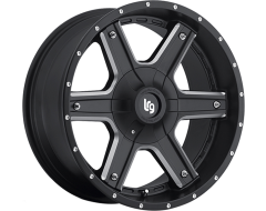 LRG Wheels Slant 101 - Matte Black with Machined Accents