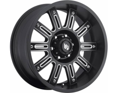 LRG Wheels Apache 102 - Matte Black with Machined Accents