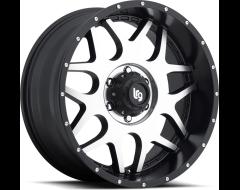 LRG Wheels Splits 104 - Machined Face with Satin Black Lip