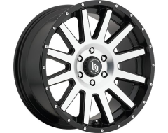 LRG Wheels Gamer 107 - Machined Face with Satin Black Lip
