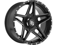 LRG Wheels Pike 109 - Satin Black with Milled Accents