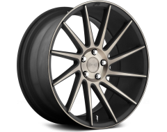 Niche Wheels Surge - Black with Machined Face and Double Dark Tint