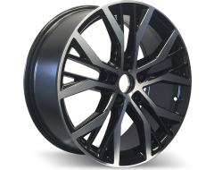 Rim Alloy V07 Series Wheels - Black with Machined Face