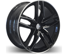 Rim Alloy A19 Series Wheels - Black with Machined Face