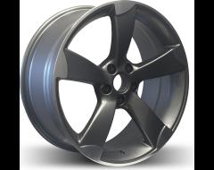 Rim Alloy A07 Series Wheels - Matte Gun Metal with Machined Face