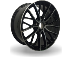 Rim Alloy B02 Series Wheels - Black with Machined Face