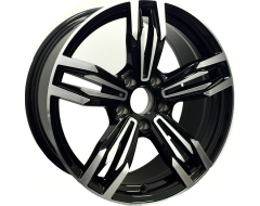 Rim Alloy B12 Series Wheels - Black with Machined Face