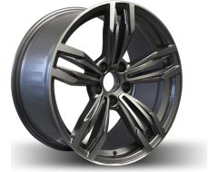 Rim Alloy B12 Series Wheels - Gun Metal with Machined Face