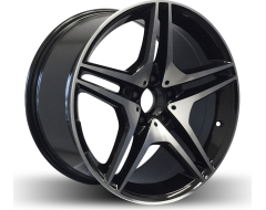 Rim Alloy M07 Series Wheels - Black with Machined Face