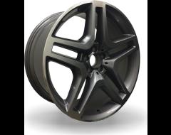 Rim Alloy M13 Series Wheels - Gun Metal with Machined Face