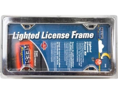 Highland Chrome Lighted License Plate Frame