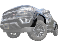 Black Horse Textured Fender Flares - Black