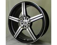 FX Wheels FX50 - Gloss Black with Natural Face