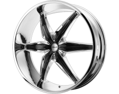 HELO Wheels HE866 - Chrome Plated with Gloss Black Accents