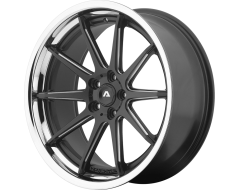 Adventus Wheels AVS-4 - Satin Black Milled with SS Lip