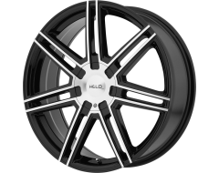 HELO Wheels HE884 - Gloss Black with Machined Face