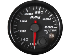 Holley Universal Analog Style Water Temperature Gauge