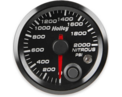 Holley Universal Analog Style Nitrous Pressure Gauge