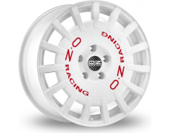 OZ-Sparco Super Rally AL Wheels - White with Red Lettering