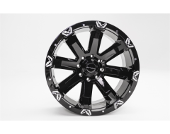 FabFours Universal FF521 Series Black Wheel