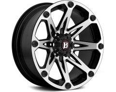 Ballistic Wheels 814 Jester Series - Painted Matte - Machined Face