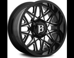 Ballistic Wheels 819 Spider Series - Gloss painted - Milled Windows