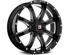 Ballistic Wheels 955 Anvil Series - Gloss painted - Milled accents