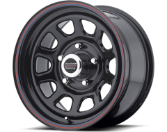 American Racing Wheels AR767 - Gloss black steel - Red and blue stripe