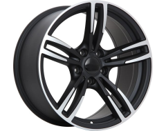 ART Wheels Replica 61 - Satin Black with Machined Face