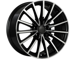 ART Wheels Replica 128 - Gloss Black with Machined Face