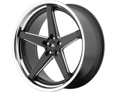 Adventus AVS-2 Series Wheels - Matte black milled with ss lip