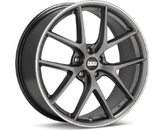 BBS CIR Series Wheels - Platinum silver. polished stainless steel rim protector.