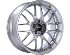 BBS RSGT Series Wheels - Diamond silver painted center, diamond-cut rim, clear protective top coat.