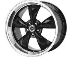 American Racing Wheels AR105 TORQ THRUST M - Gloss Black - Machined lip
