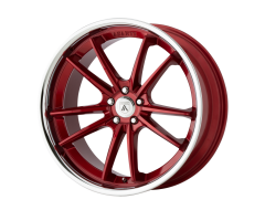 Asanti Wheels ABL-23 DELTA - Candy Red - Chrome Lip