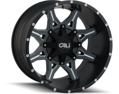 Cali Off-Road OBNOXIOUS 9107 Series Wheels - satin black with milled spokes