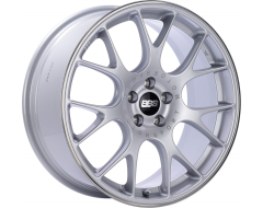 BBS CHR Series Wheels - Brilliant silver, polished stainless steel rim protector.