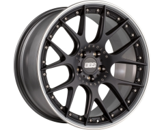 BBS CHRII Series Wheels - Black center, platinum rim with polished stainless steel rim protector.