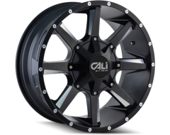 Cali Off-Road BUSTED 9100 Series Wheels - satin black with milled spokes