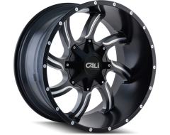 Cali Off-Road TWISTED 9102 Series Wheels - satin black with milled spokes