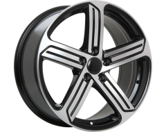ART Wheels Replica 40 - Gloss Black with Machined Face