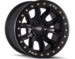 Dirty Life Wheels DT-1 9303 Series - Matte Black - Simulated beadlock ring