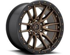 Fuel Off-Road Wheels D681 REBEL - Matte Bronze - Black Bead ring