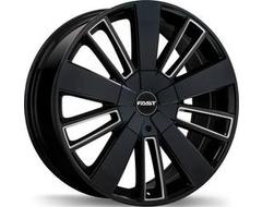 Fast Wheels Entourage - Gloss Black with Milled Trim