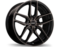 Fast Wheels Aristo - Gloss Black with Machined Face and Smoked Clear
