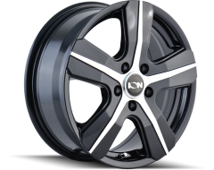 Ion Wheels 101 Series - Gloss Black - Machined Face