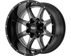 Moto Metal MO970 Series Wheels - Gloss gray center gloss black lip