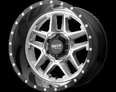 Moto Metal Wheels MO987 SENTRY - Gloss Silver - Gloss Black lip