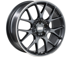 BBS CH Series Wheels - Black center, polished stainless steel rim protector.