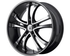 Asanti ABL-6 Series Wheels - Machined face with black lip